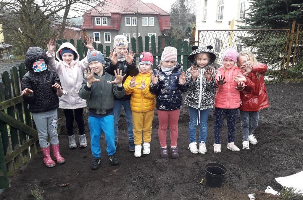 Mały przedszkolny ogródek